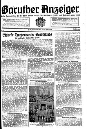 Baruther Anzeiger vom 21.04.1939