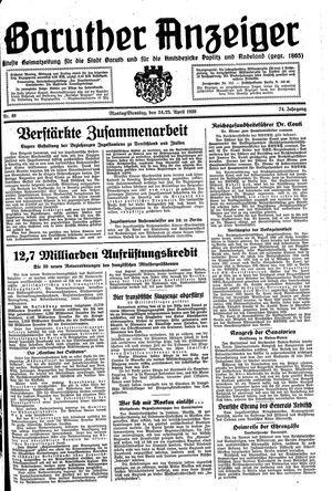 Baruther Anzeiger vom 24.04.1939