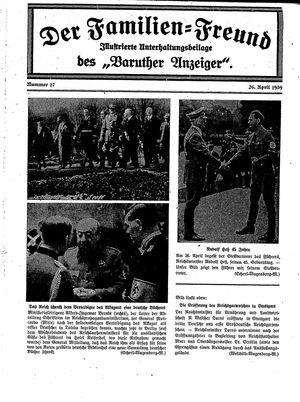 Baruther Anzeiger vom 26.04.1939