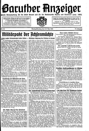 Baruther Anzeiger vom 08.05.1939