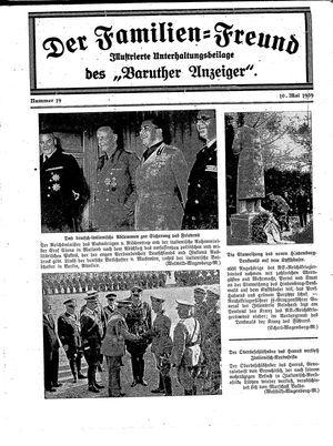 Baruther Anzeiger vom 10.05.1939