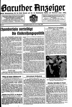 Baruther Anzeiger vom 12.05.1939