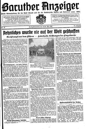 Baruther Anzeiger vom 19.05.1939