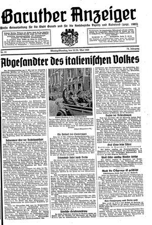 Baruther Anzeiger vom 22.05.1939