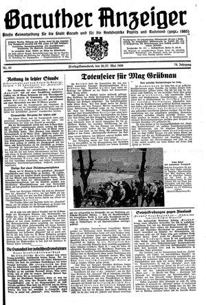 Baruther Anzeiger vom 26.05.1939
