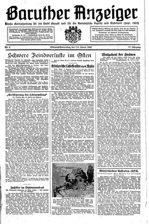 Baruther Anzeiger vom 07.01.1942