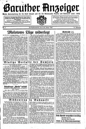 Baruther Anzeiger vom 09.01.1942