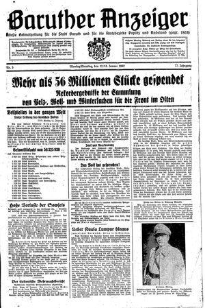Baruther Anzeiger vom 12.01.1942