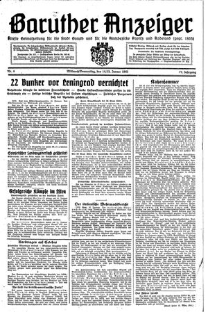 Baruther Anzeiger vom 14.01.1942
