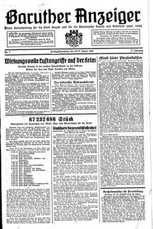Baruther Anzeiger vom 16.01.1942