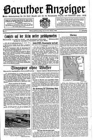 Baruther Anzeiger on Jan 21, 1942