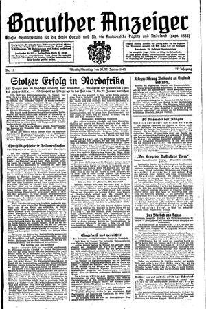 Baruther Anzeiger vom 26.01.1942