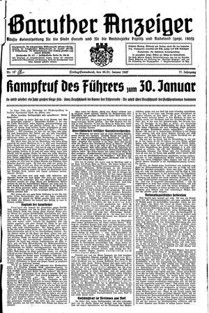 Baruther Anzeiger vom 30.01.1942