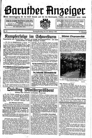 Baruther Anzeiger vom 02.02.1942