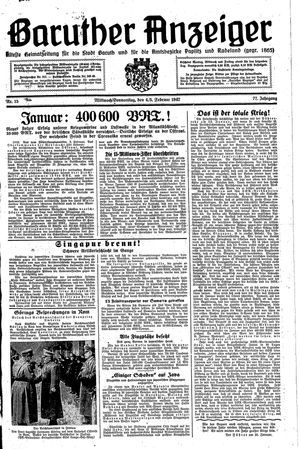 Baruther Anzeiger vom 04.02.1942
