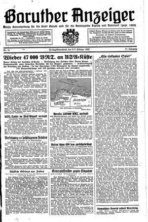 Baruther Anzeiger vom 06.02.1942