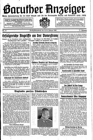 Baruther Anzeiger vom 13.02.1942