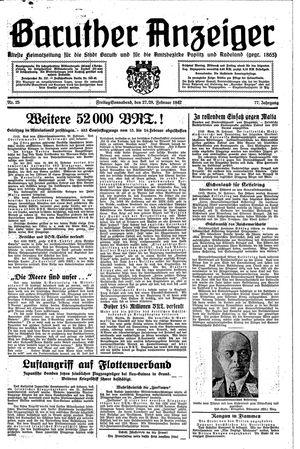 Baruther Anzeiger vom 27.02.1942