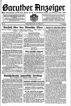 Baruther Anzeiger vom 02.03.1942