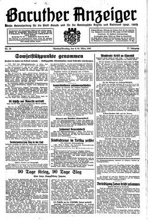 Baruther Anzeiger vom 09.03.1942