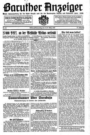 Baruther Anzeiger vom 11.03.1942