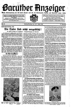 Baruther Anzeiger vom 16.03.1942