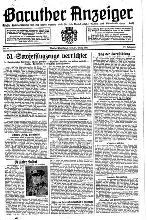 Baruther Anzeiger vom 23.03.1942