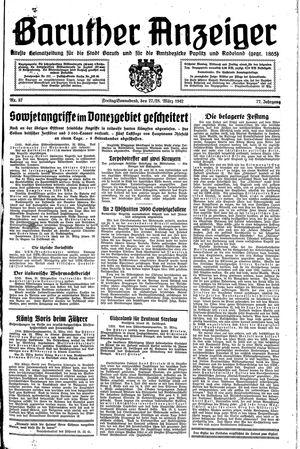 Baruther Anzeiger vom 27.03.1942
