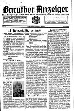 Baruther Anzeiger vom 03.04.1942