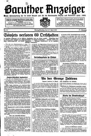 Baruther Anzeiger vom 06.04.1942