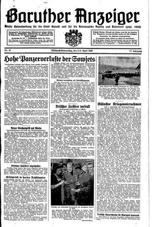 Baruther Anzeiger vom 08.04.1942