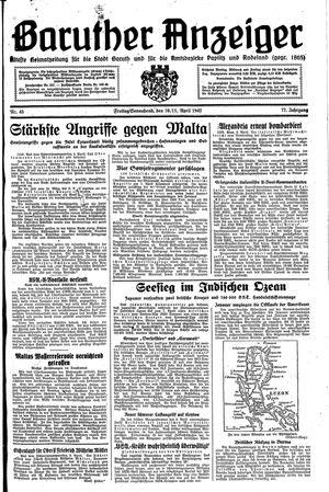 Baruther Anzeiger vom 10.04.1942