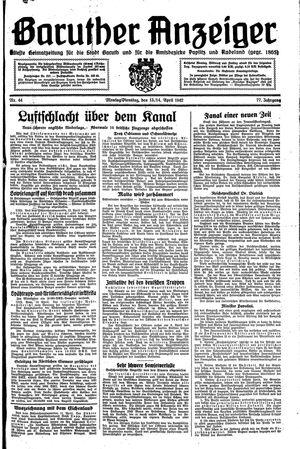 Baruther Anzeiger vom 13.04.1942