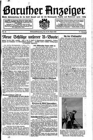 Baruther Anzeiger vom 15.04.1942