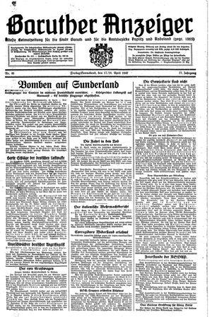 Baruther Anzeiger vom 17.04.1942
