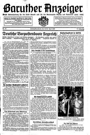 Baruther Anzeiger vom 24.04.1942