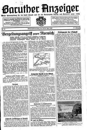 Baruther Anzeiger vom 29.04.1942