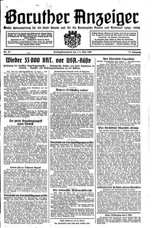 Baruther Anzeiger vom 01.05.1942