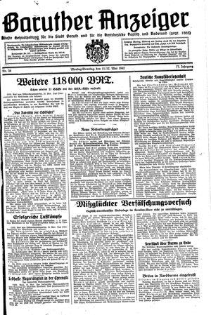 Baruther Anzeiger vom 11.05.1942