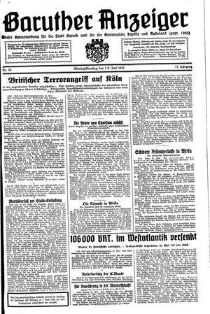 Baruther Anzeiger vom 01.06.1942