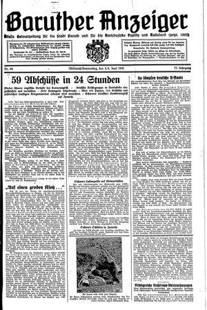Baruther Anzeiger vom 03.06.1942