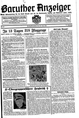 Baruther Anzeiger vom 05.06.1942