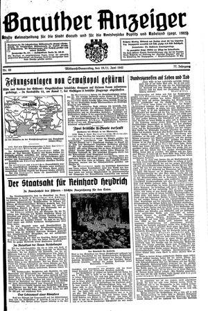 Baruther Anzeiger vom 10.06.1942