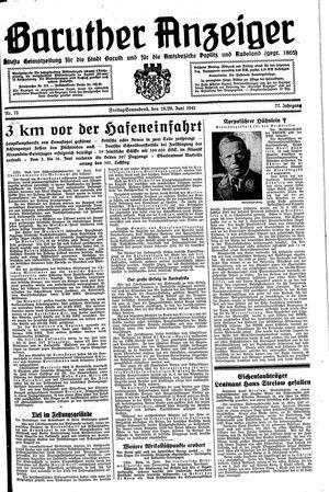 Baruther Anzeiger vom 19.06.1942