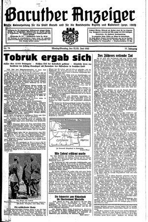 Baruther Anzeiger vom 22.06.1942