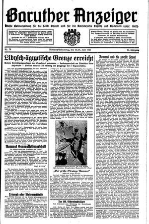 Baruther Anzeiger vom 24.06.1942