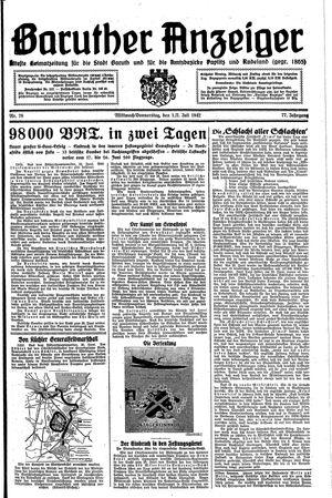 Baruther Anzeiger vom 01.07.1942