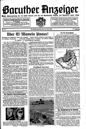 Baruther Anzeiger vom 03.07.1942