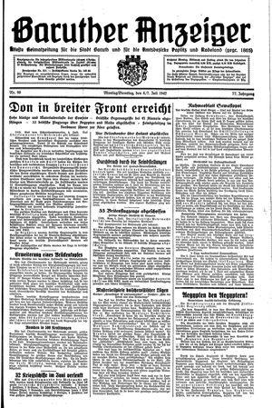 Baruther Anzeiger vom 06.07.1942