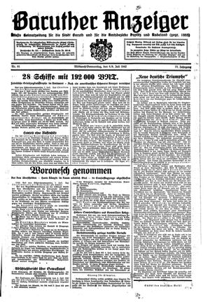 Baruther Anzeiger vom 08.07.1942